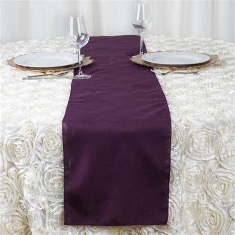 eggplant polyester table runner efavormart
