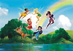 Adhesive Wall Mural wall mural wallpaper disney tinkerbell and friends fairies