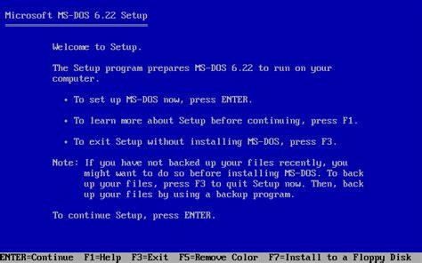 ms dos installing ms dos in dosbox