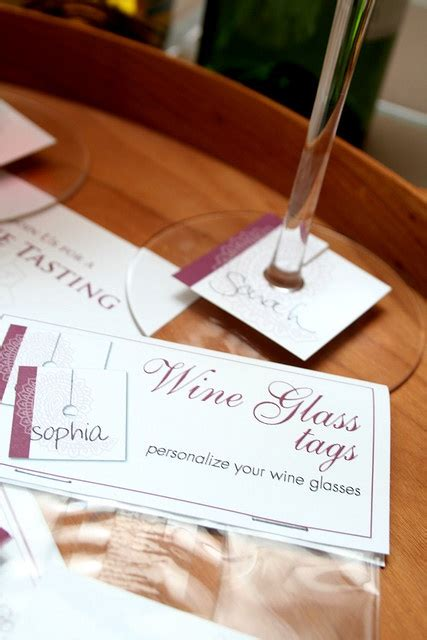 personalized wine glass labels not for label but for shape