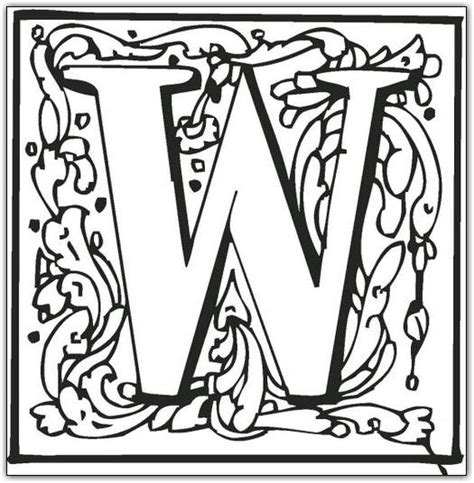 coloring pages of fancy alphabet letters free coloring pages of fancy alphabet letters
