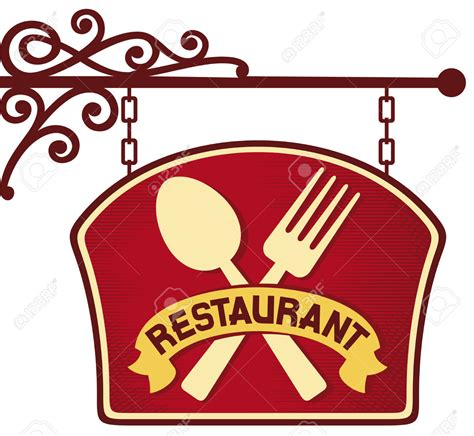 clipart ristorante sign clipart restaurant pencil and in color sign clipart