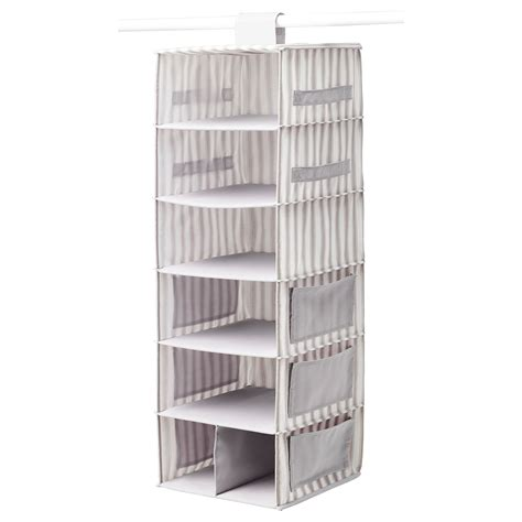 clothes storage svira hanging storage with 7 compartments grey white