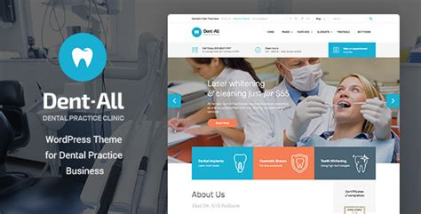 wordpress theme free hospital dent all medical dental clinic wordpress theme by