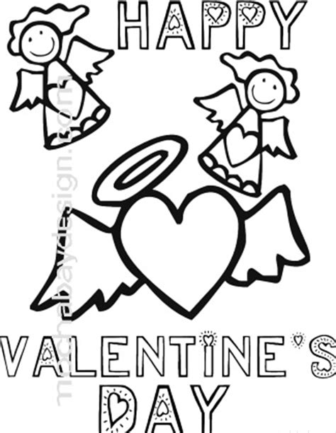valentine angels coloring pages printable angels hearts valentine s day coloring page