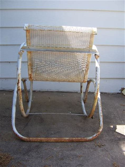antique glider swing vintage metal mesh glider chair swing patio porch rocker