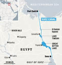 Suez Canal In World Map by Geogarage Egypt To Build New Suez Canal
