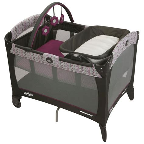 Pink And Brown Graco Pack N Play With Changing Table Graco Pack N Play Playard With Reversible Napper And Changer Nyssa