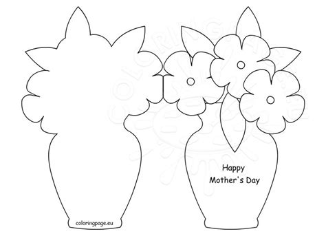 happy mother s day card template coloring page