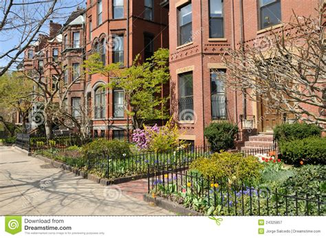 elegant home in boston s back bay traditional home back bay brownstones royalty free stock photography