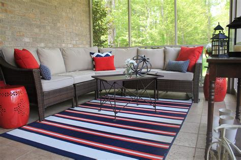 patio furniture indoors my americana screened porch domestic charm