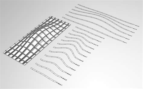 cutting layout definition waffle structural system using grasshopper to output
