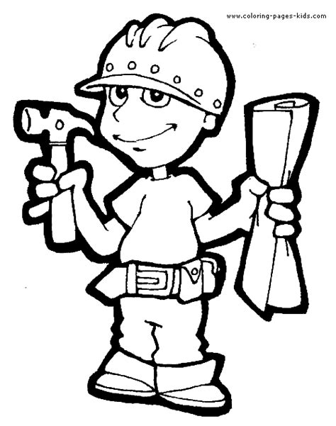 coloring pages of jobs and professions job color page coloring pages for kids family people