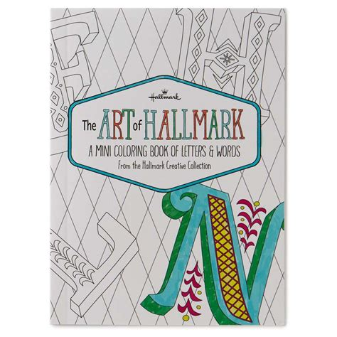 the art book mini 0714867969 hallmark the art of hallmark a mini coloring book of letters words the paper store