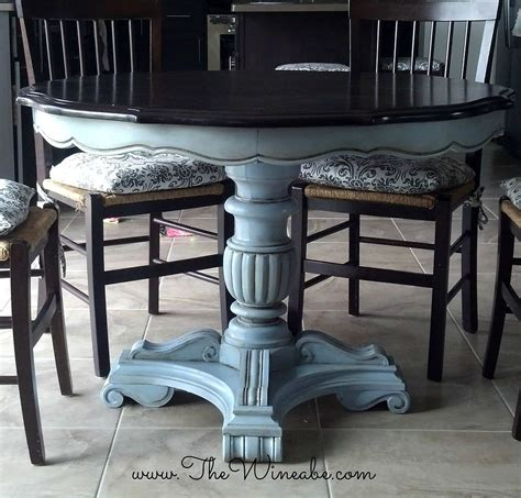 chalk paint kitchen table diy hometalk refurbished craisglist kitchen table with