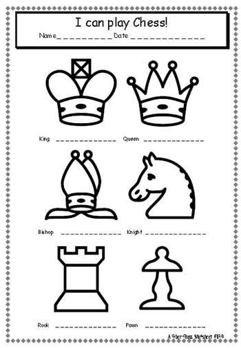 Chess Piece Symbols Printables Sketch Coloring Page sketch template