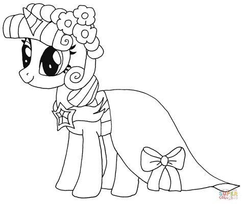 my little pony coloring pages dress princess twilight sparkle from my little pony coloring
