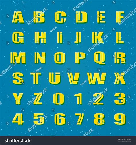 design of font crossword clue mosaic style alphabet letters numbers vector image
