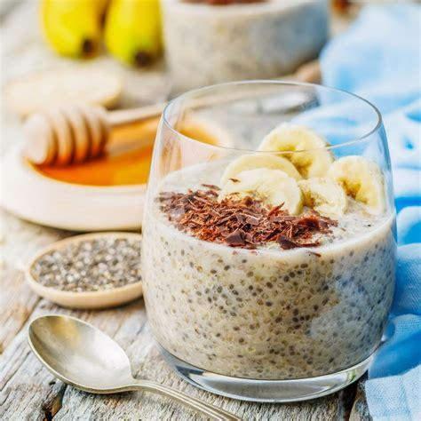 veganer  carb quinoa chia pudding im glas rezept