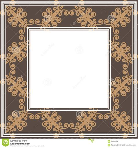 brown floral pattern border brown floral border stock vector image of border white