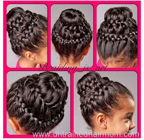 hairstyle doublecrown double crown braid with donut bun tutorial