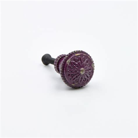 Tiny Knobs Small Purple Vintage Knobs Purple Metal