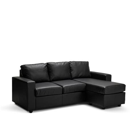L Shape Leather Sofa New 3 Seater L Shape Lounge Black Brown Modular Pu Leather Sofa Ebay