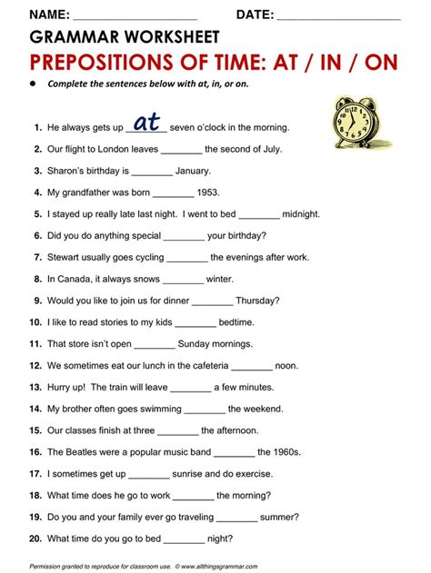 themes for english lessons prepositions mixed exercises pdf prepositions movement