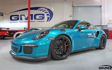 teal porsche atomic teal porsche 991 gt3rs gmg racing