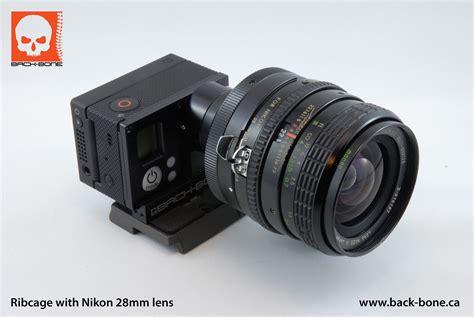 Gopro Nikon back bone cine mod gopro 3 nikon lens mount adapter 171 wide open