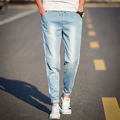mens light blue slim fit jeans bbg clothing