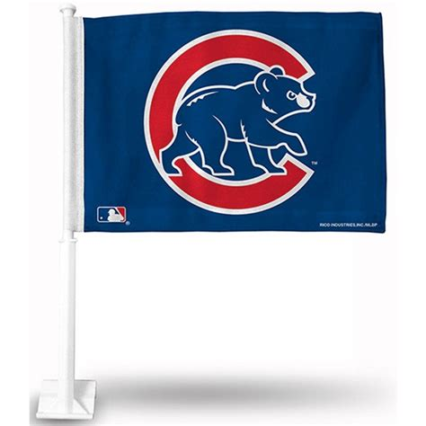 chicago cubs flags sports flags and pennants chicago cubs walking bear car flag your chicago cubs