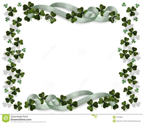 st patricks day border stock illustration image of lucky