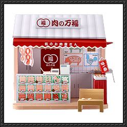 Papercraft Cafe - doll house papercraftsquare free papercraft