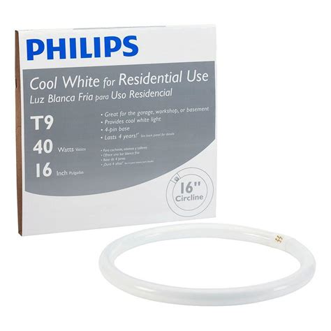 Lu Neon Philips 40 Watt philips 16 in t9 40 watt cool white plus 4100k circline