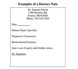 doctor excuse template sle doctor note template 19 free documents in pdf word