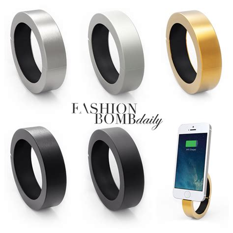 wearable phone charger accessories lust qdesigns qbracelet s wearable cell phone