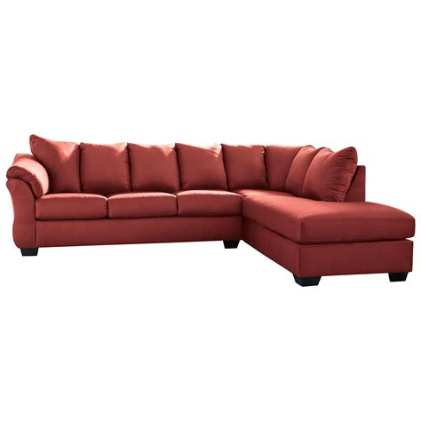 Sleeper Sofa With Chaise by Signature Design By Darcy Salsa Contemporary