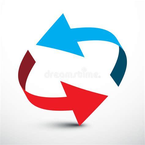 blaue und rote küche pfeil vektor rote und blaue pfeile vektor abbildung