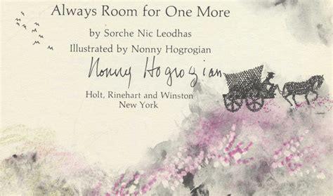 always room for one more always room for one more sorche nic leodhas leclaire gowans alger books tell you why inc