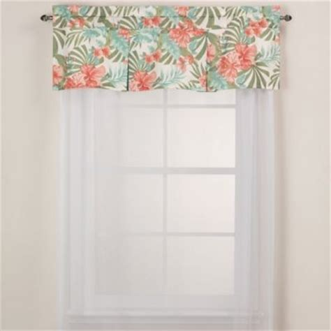 Tropical Kitchen Curtains J New York Pompano Tropical Window Valance Contemporary Curtains By Bed Bath Beyond