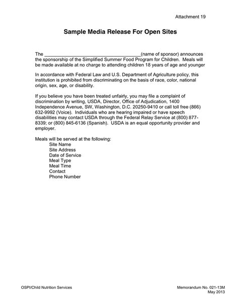 Release Cover Letter Media Release Cover Letter In Word And Pdf Formats Page 2 Of 3