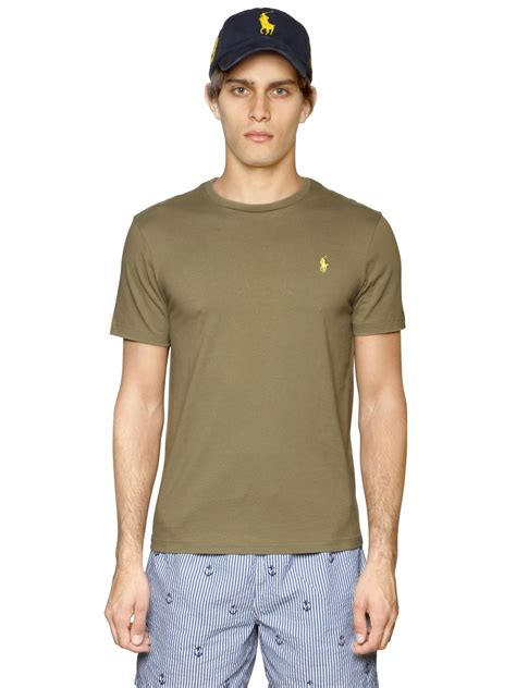 Jaket Polos Green Army lyst polo ralph custom fit logo cotton t shirt in