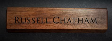engraved desk name plates personalized wooden desk name plates 10 inch solid walnut