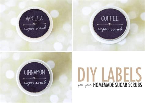 DIY Labels for your homemade sugar scrubs {Free Printables} ? Bobs & Rouge