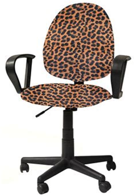 Leopard Office Chair - office chair seat covers on office chair