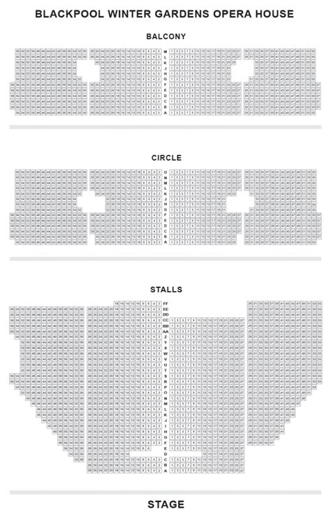 opera house blackpool seating plan blackpool opera house show tickets and information