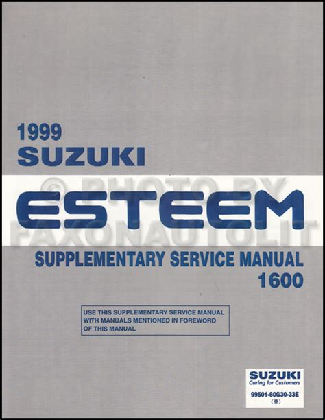 car maintenance manuals 1996 suzuki esteem user handbook 1998 2001 suzuki esteem wiring diagram manual original