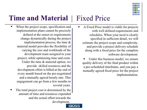 a comparison between time and material and fixed bid