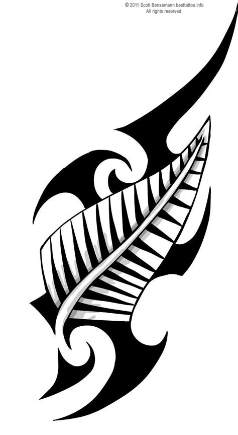 silver fern tattoo designs maori tribal design and silver fern